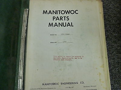 Manitowoc 4500 Vicon Dragline Crawler Crane Parts Catalog Manual Book
