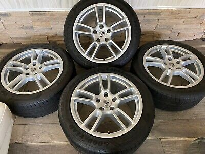 """2018 PORSCHE PANAMERA 19"""" STAGGERED Silver Factory OEM WHEELS RIMS  2019 2017 16"""