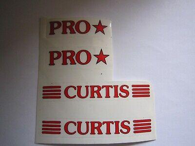 CURTIS BMX FRAME DECALS, N.O.S. RED d