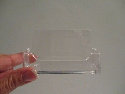 25 Emco Usa Acrylic Plastic Business Card Holder Clear Desk Display Stand Nos
