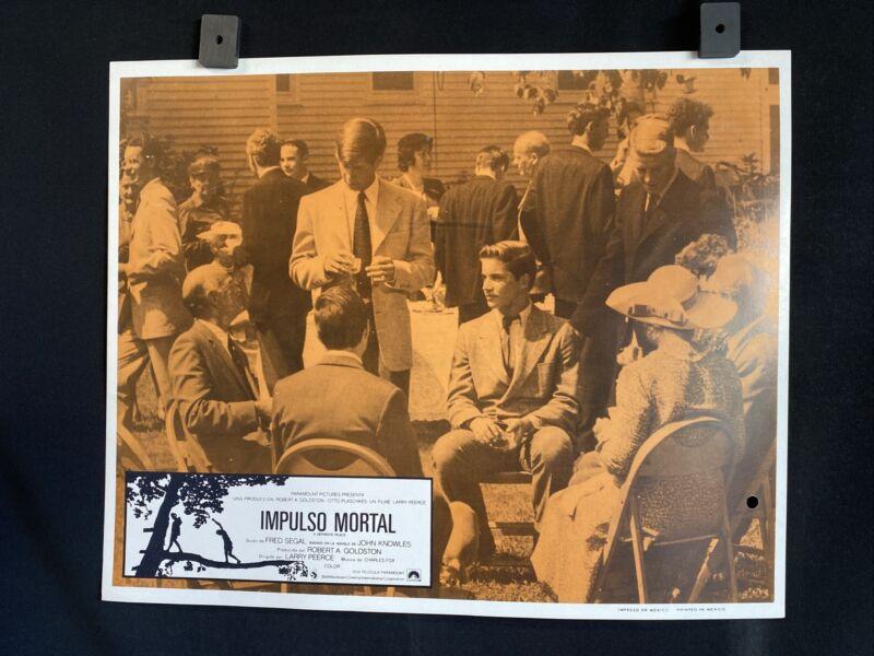 "1972~ A SEPARATE PEACE~ John Heyl~ Parker Stevenson~ Orig. MX Lobby Card 14""x11"""