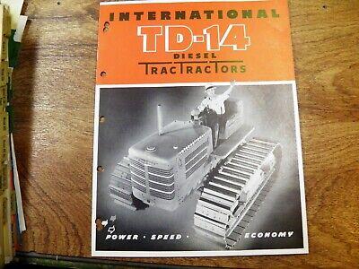 Ih International Td-14 Tractor Sales Flyer Original