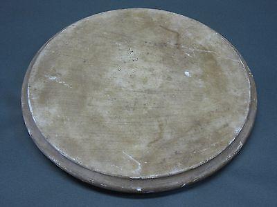 Alter Stein Untersatz für Glasdom Glassturz Glasglocke  Uhrensturz  23,5 cm