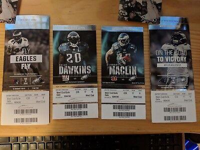 Philadelphia Eagles Ticket Stubs Collectibles No NFL tickets printed - Nfl Ticket Collectibles