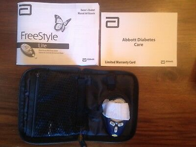NEW Abbott Freestyle Lite Blood Glucose Diabets Monitor Meter w/Case (no lancet)