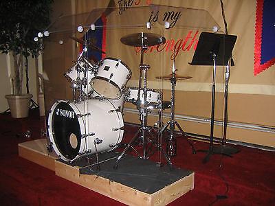 Six - 2 ft. x 4ft. Panels w/ Deflectors Drum shields