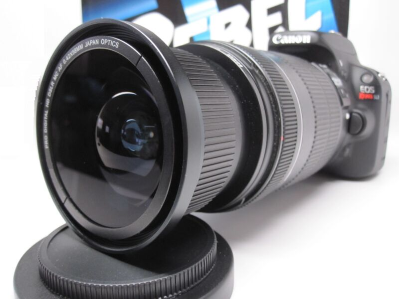 Ultra Wide Angle Macro Fisheye Lens for Canon Eos Digital Rebel 18-200 IS EFS