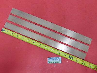 3 Pieces 18 X 1 C110 Copper Bar 14 Long Solid Flat Mill Bus Bar Stock H02