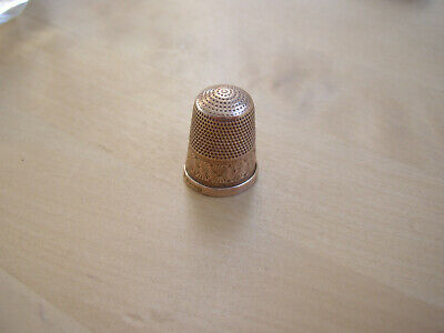 Antique vtg Solid gold Thimble Hallmarked Charles Horner Chester 1911 9ct 4g.375