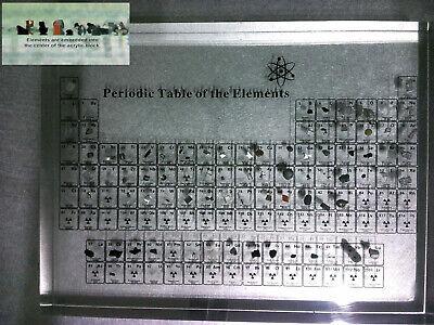 Periodic Table of Elements Acrylic Display With Real Embedded Elements Teaching