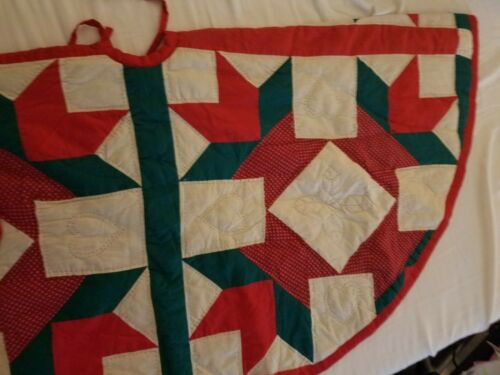 """Christmas Hand Quilted Tree Skirt 24"""""""