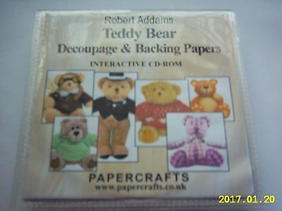 TEDDY BEAR DECOUPAGE & BACKING PAPERS CARDMAKING  CD
