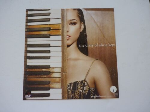 Alicia Keys Diary of LP Record Photo Flat 12x12 Poster
