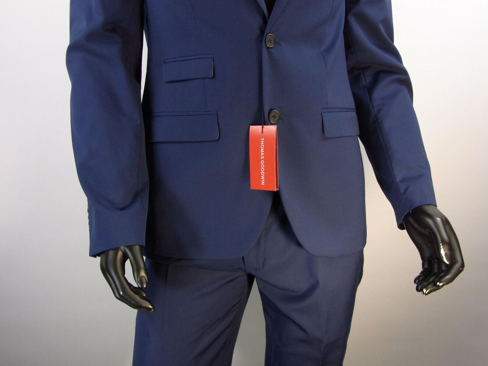 Herren Anzug Thomas Goodwin << Blau Marine SLIM FIT  Größe 102 Model 3
