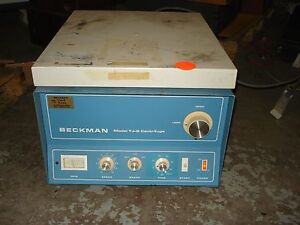 Beckman TJ-6RS Centrifuge w/ Swinging Bucket Rotor & Tube Holders