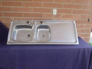 Stainless Sink Double Bowl W/Fittings Templestowe Lower Manningham Area Preview