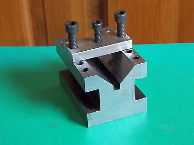 Toolmaker Machinist Made Hardened V Block With Clamp