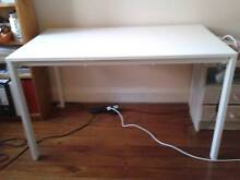Modern White Melamine Top Dining Work Study Table Gladesville Ryde Area Preview