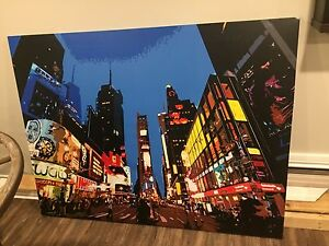 Large Modern Canvas Artwork of Times Square NYC