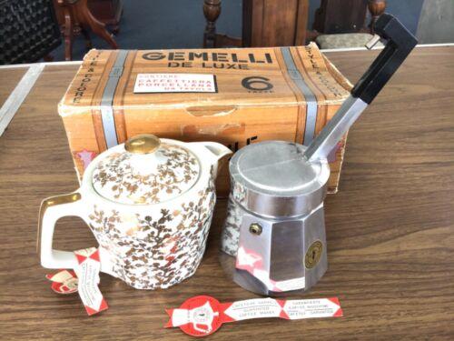 Coolest Vintage 1970 Gemelli De Luxe, Italian Espresso Coffee Press Maker