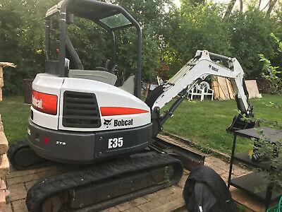 2014 35hp E35 Bobcat Excavator Zts Zero Turn Swing Clamp Lights Radio More