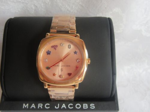 Marc Jacobs Mandy Rose Gold Stainless Steel Watch Classic Collection $250.00