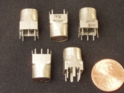 Qty 5: Variable Inductor 6-15mH Adjustable Coil Shielded Tunable NOS 5 Pieces