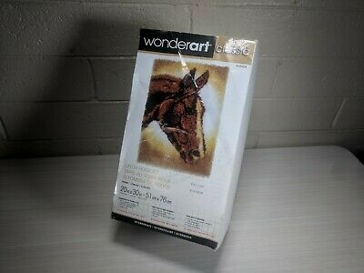 Wonderart Classics Horse Profile Latch Hook Kit 20