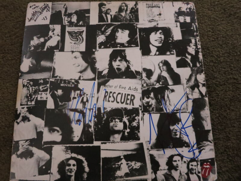 Rolling Stones Signed Lp Coa Proof! Keith Richards Charlie Watts Mick Taylor