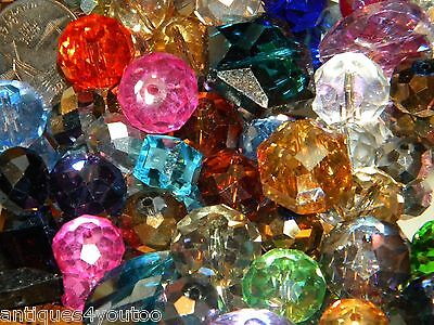 NEW 100 Jesse James BEADS 6-15mm Fire Polished, AB, Crystal, Rondelle Mixed LOT