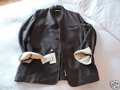 LANIFICIO luxury COLOMBO urban coat jacket 52 EU NEW TAGS cashmere silk...