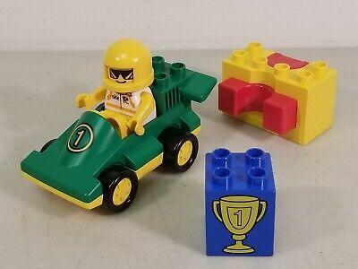 Lego Duplo Set #2607 Catapult Racer: Race Car, Driver, Launcher & Trophy Block