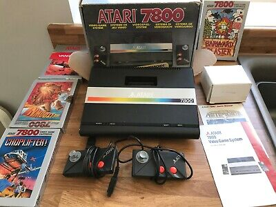 ATARI 7800 BOXED COMPLETE WITH GAMES