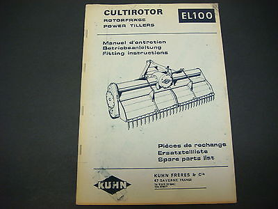 (Kuhn Manual Power Tillers EL100 Spare Parts List)
