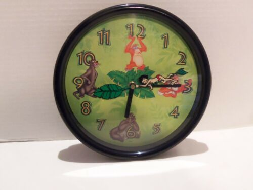 DISNEY CHANNEL JUNGLE BOOK CLOCK VINTAGE 1992  PROMO- 10 IN. HARD TO FIND-