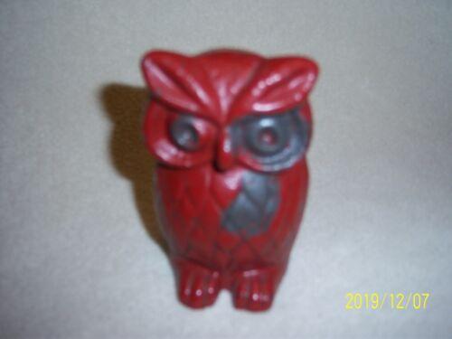 Cast Iron Owl Figurine