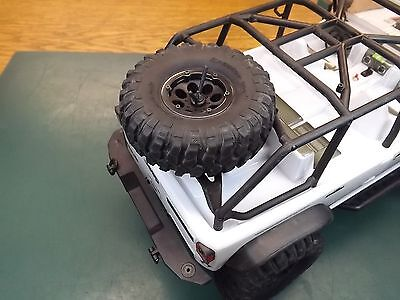 Jeep Spare Tire Rack - RCDM Spare Tire Rack For The Axial 2012 Jeep Wrangler SCX10 RC Rock Crawler body