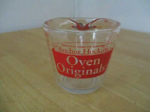 Anchor Hocking Oven Original 2 Cup 1 Pt Measuring Cup D Handle