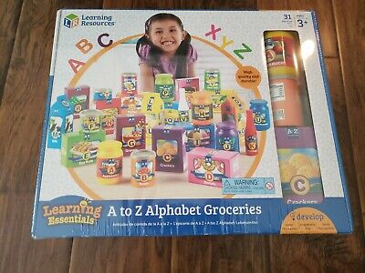 Learning Resources A to Z High Quality Alphabet Groceries PreK+ 3yrs up