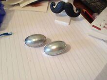 Grey sea slug peal ear-rings set in sterling silver Vaucluse Eastern Suburbs Preview