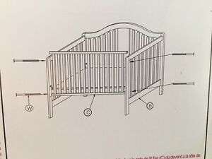 4-in-1 Crib without mattress