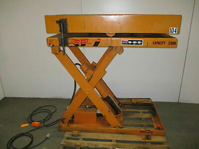 Rol-lift 3000 Lb Electric Scissor Lift Table 110v Rotating Top 36 Travel