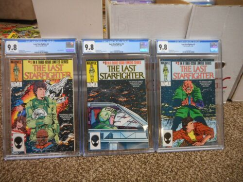 The Last Starfighter 1 2 3 SET ALL cgc 9.8 Marvel 1984 movie MINT mini star wars