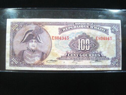 HAITI 100 GOURDES 1979 P236A TYVEK D