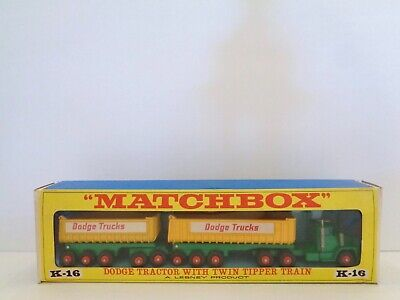 Lesney Matchbox KING-SIZE K-16 'DODGE TRACTOR w/TWIN TIPPERS'--see photos & more