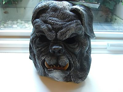 NEW Adult Snarling Brown OR BLACK  Bull Dog BULLDOG FULL HEAD Halloween Mask