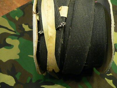 "1""   Flat Black Braid Fiberglass HI TEMP  (1198 F ) sleeving insulation  50 ft"