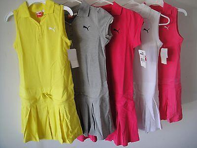 PUMA NWT Girls Dress Tennis Polo Pleated Pink White Gray Yellow L 12 14 XL 16