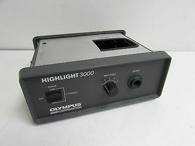 Olympus Corp Highlight 3000 Fiber Optic Light Source 121v 175 2a 5060hz Good