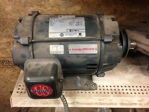 moteur electrique u.s electrical motor 5.0hp 3 phases